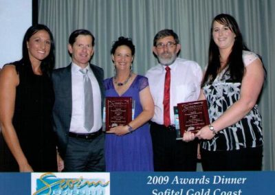 Community Service Award 2009 for Services to the Remote Community of Halls Creek - Olympian Hayley Lewis and Award Sponsors Zodiac.hpg