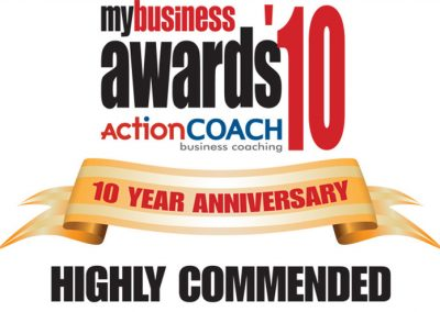 2010 ActionCOACH My Business Highly Commended